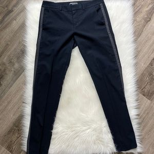 Vince Wool Navy Side Stripe Cropped Pants - 4
